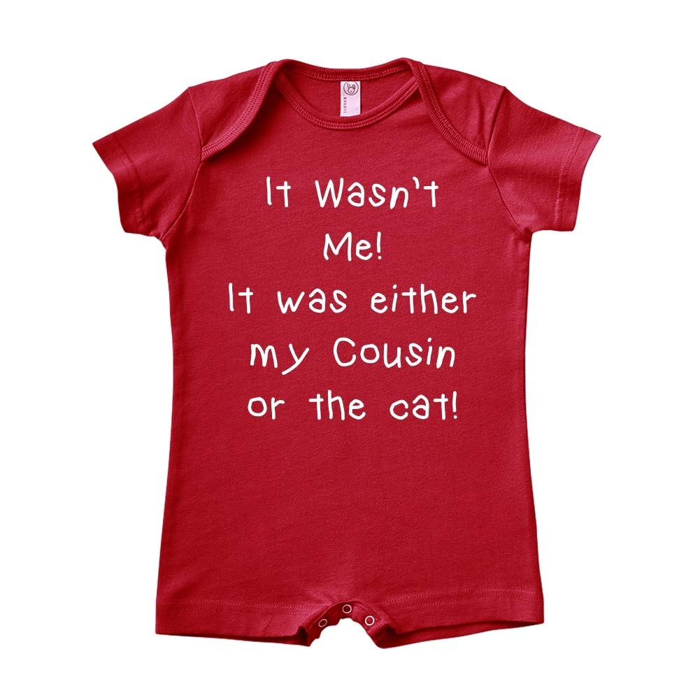 It was Either My Cousin Or The Cat It Wasnt Me Baby Romper