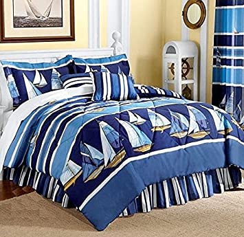 white comforter horizontal line bedding striped products fancy and master twin nautical rugby cotton themed cabana red grande set bold blue bedroom khaki adult colorful