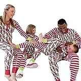 GBSELL Women Family Pajamas,Cartoon Animal Holiday Christmas Family Matching Sleepwear Jumpsuit (Kids, 10T)