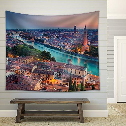 Verona Image of Verona Italy during summer sunset Fabric Wall