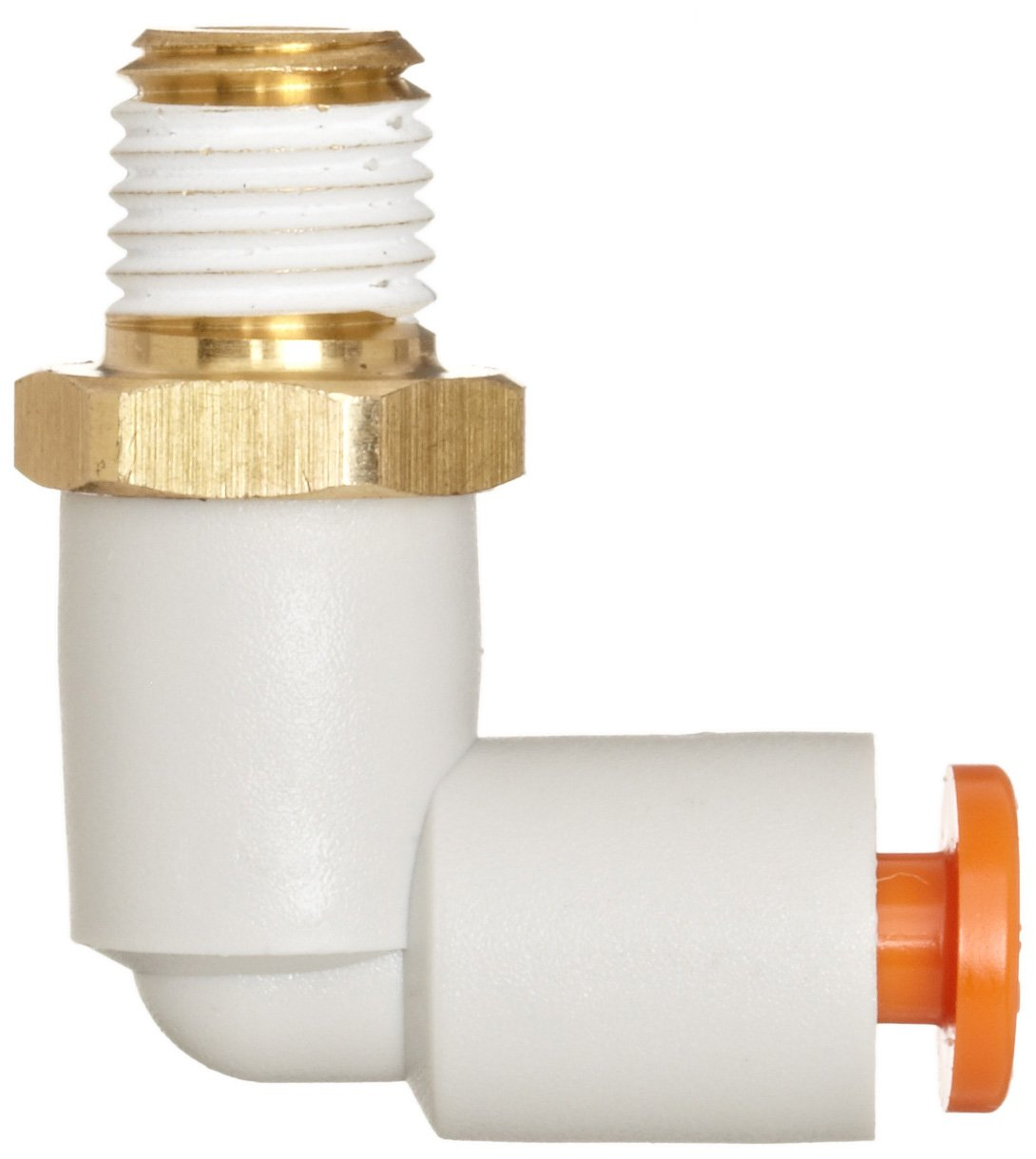 SMC KQ2L03-34AS PBT and Brass Push-to-Connect Tube Fitting with Sealant Pack of 10 90 degree Elbow 5//32 Tube OD x 1//8 NPT Male