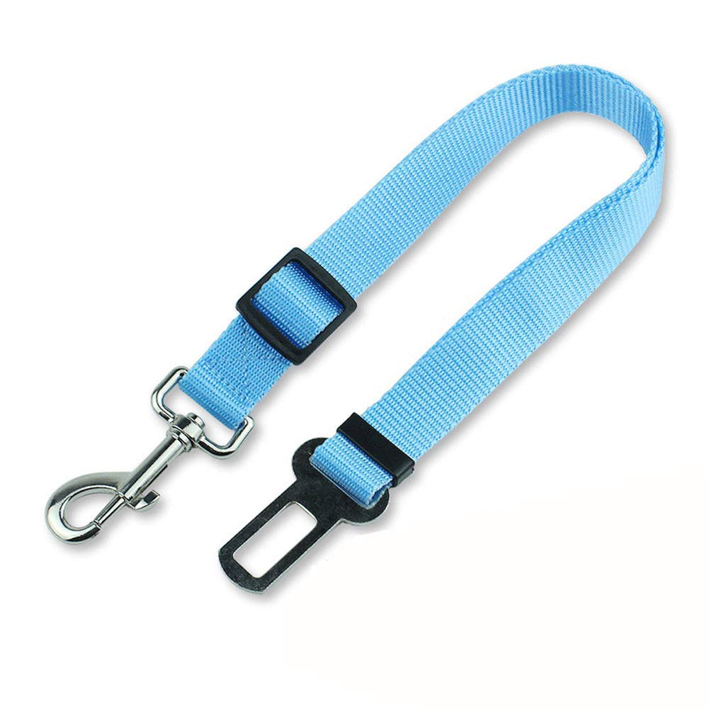 GBY Dog seat Belt, pet car seat Belt, Adjustable car Traction Belt, Dog car Safety Rope car Safety Rope, Suitable for Small and Medium Pets-Blue by GBY