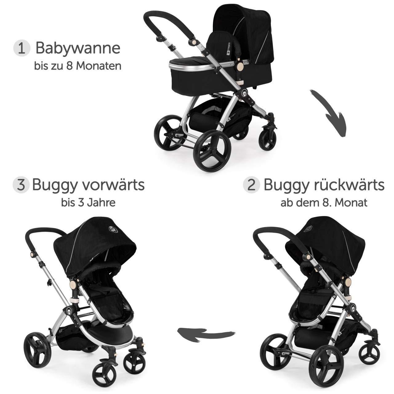 Froggy Magica - Cochecito 2 en 1 con capazo y asiento deportivo, varios colores negro Negro: Amazon.es: Bebé