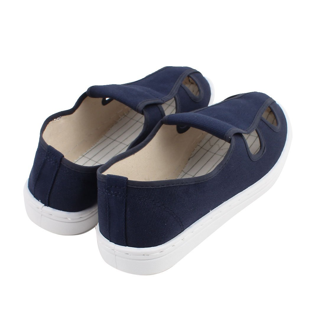 Amazon.com: eDealMax US7 UK6.5 EU39 PU antideslizante Suela Plana Anti-estática Zapatos de lona blancos 4hole: Electronics