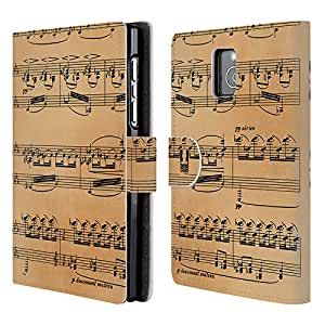 Head Case Designs Debussy Music Sheets Leather Book Wallet Case Cover For BlackBerry Passport