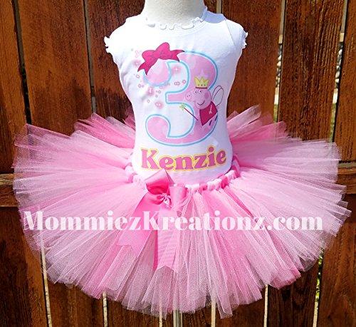 Peppa Pig Tutu Set, Peppa Pig Birthday Outfit,Peppa Pig Birthday by Mommiez_Kreationz