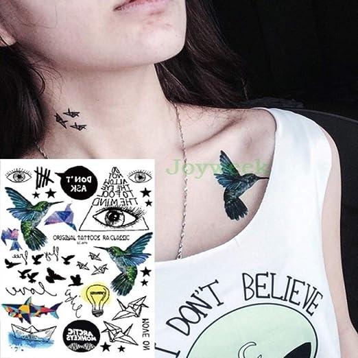 tzxdbh 3 Unids-Etiqueta engomada del Tatuaje a Prueba de Agua ...