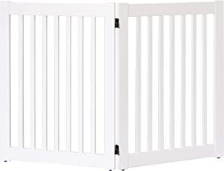"""product image for Dynamic Accents Amish Craftsman Highlander Series Solid Wood Pet Gates are Handcrafted 32"""" High - 2 Panel/White"""