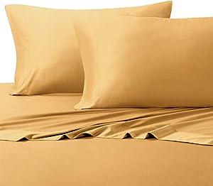100% Viscose from Bamboo Silky Sheet Set, Queen, Gold