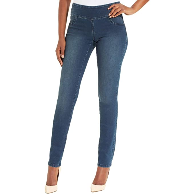 b60d7e6900ce9 Style   Co. Womens Petites Pull On Curvy Fit Skinny Jeans Blue PP at ...