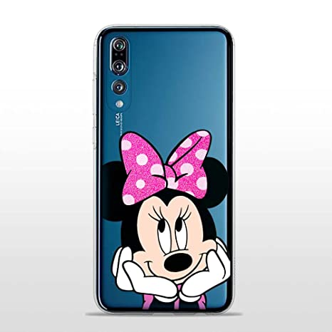 quality design 7572d 4a957 SLIDE P20Pro Cover TPU Gel Trasparente Custodia Protettiva, Glitter Fluo  Special Collection, Disney Minnie Mouse, Huawei P20 PRO