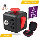 Fidget Cube Anxiety Attention Toy With BONUS CASE + eBook Included - Relieves Stress And Anxiety And Relax for Children and Adults