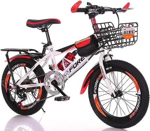 Bicicleta para Niños De 18 Pulgadas Bicicleta De Montaña para Niños De 6 A 14 Años Bicicleta De Cambio De Acero con Alto Contenido De Carbono Bicicleta Niño Bicicleta Chica: Amazon.es: Hogar