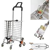 8c35ea214983 Amazon.com : Lucky Tree Folding Shopping Cart Stair Climbing Cart ...