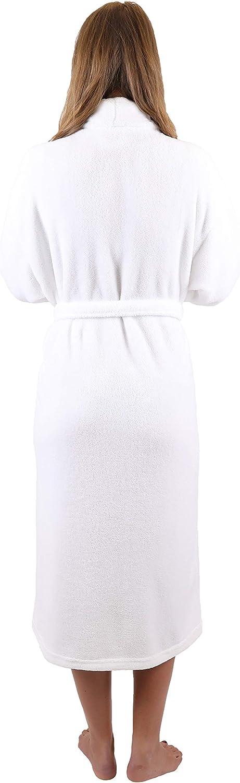 S BETZ Accappatoio di Microfibra Vestaglia da Camera Accappatoio da Sauna Unisex Taglie XXL Size L Bianco