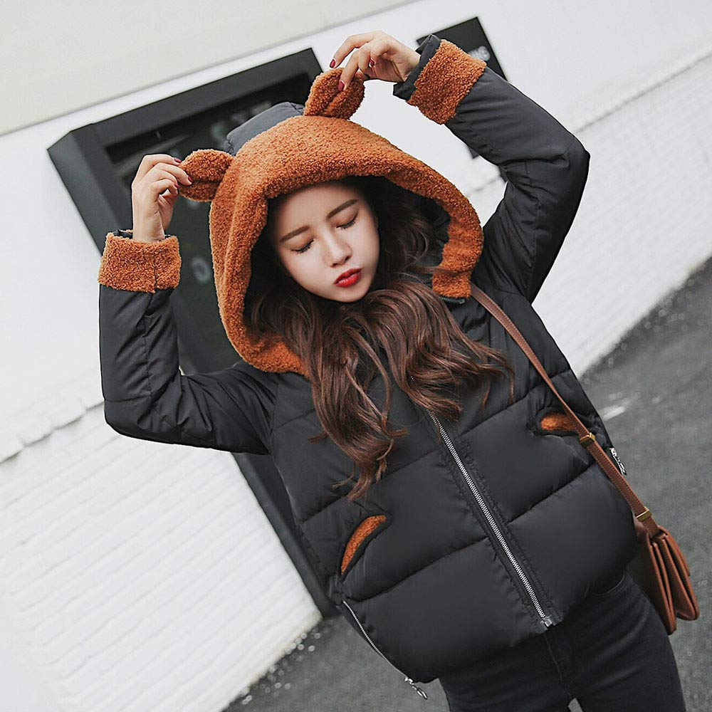 Amazon.com: Clearance Sale! Women Winter Coat,Vanvler Ladies Warm Jacket Cute Hooded Overcoat Thick Slim Fit: Clothing