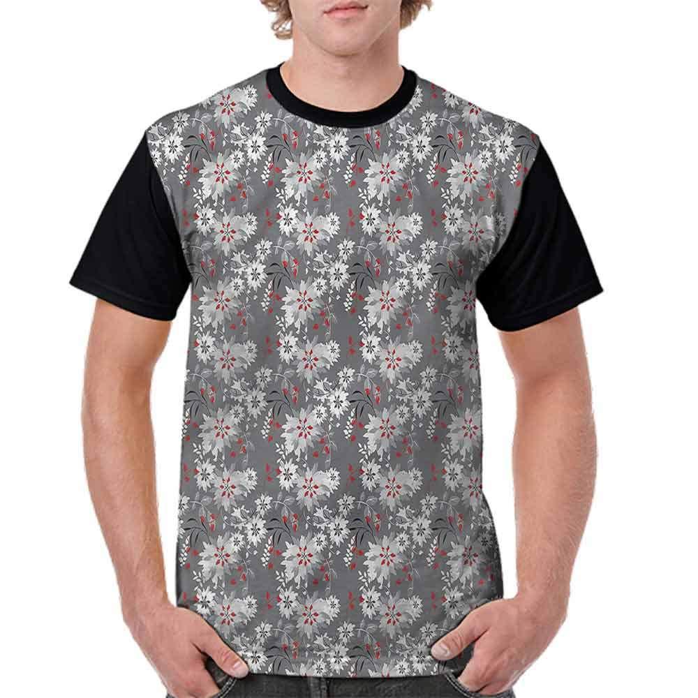 BlountDecor Trend t-Shirt,Blooming Leaves Petals Fashion Personality Customization