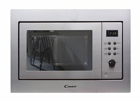 Candy MIC211EX Microondas de encastre con grill, display digital, 800W, 21 Litros, acero inox
