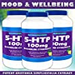 5-HTP - 100mg - Maximum Strength - Supports Mood, Sleep, and Emotional Wellbeing - 60 Capsules (3)