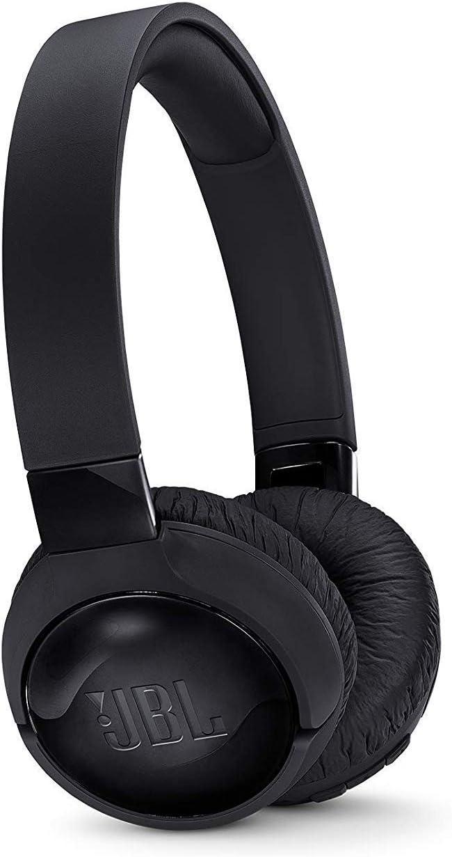JBL Tune 600 BT ANC - Auriculares inalámbricos con Bluetooth y cancelación de ruido, sonido Pure Bass, 12h de música continua, negro