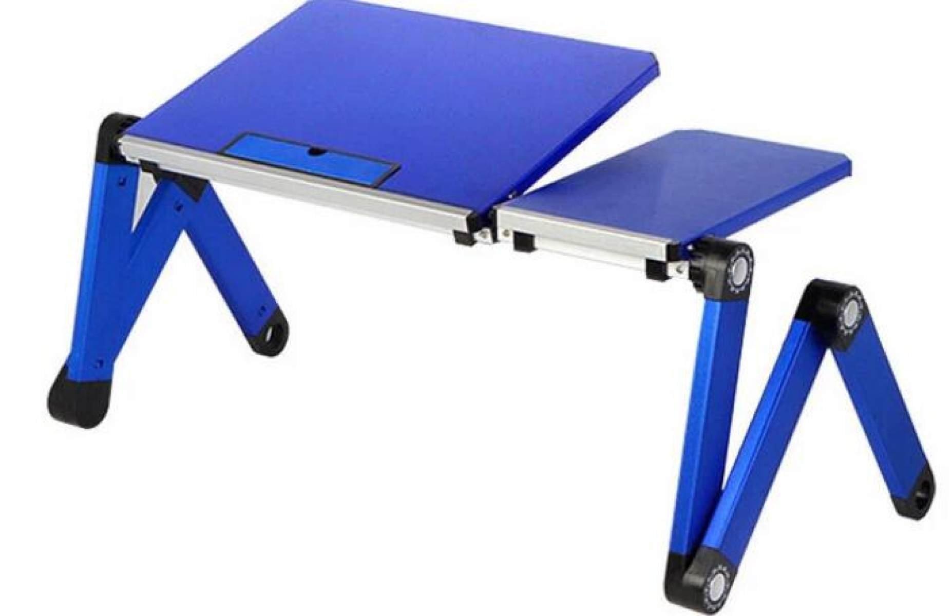 Bedside Table Bedside Table Computer Desk Writing Desk Learning Desk Outdoor Desk Children 's Dining Table Bedside Tray,Blue-OneSize