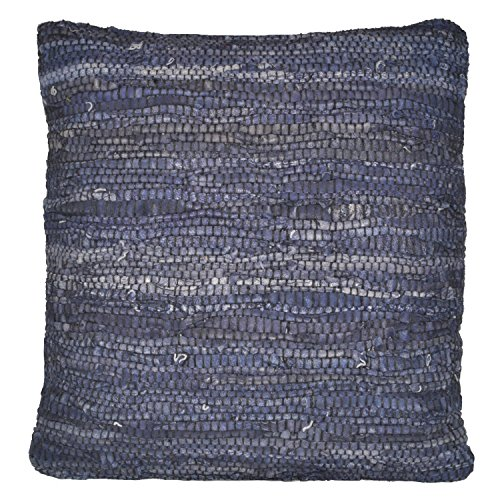 Cheap Matador Leather Chindi Pillow, 18-Inch, Blue