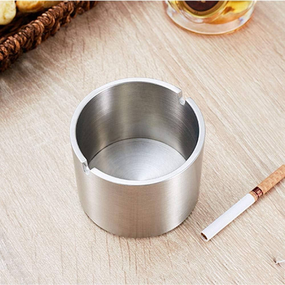 葉巻灰皿, 防風灰皿タバコのためのアウトドア灰皿ホーム/オフィス用パティオ美しい卓上煙ステンレス鋼灰皿のための(サイズ:L)、サイズ:L、カラー:大 (Color : Medium, Size : Medium)