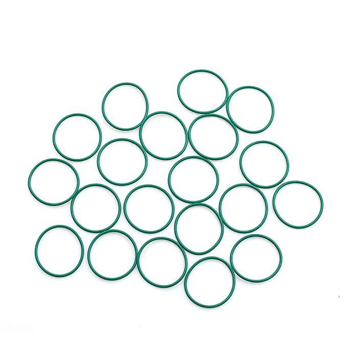 X AUTOHAUX 20pcs Green Universal Rubber O-Ring Seal Gasket Washer for Auto Car 18 x 1mm