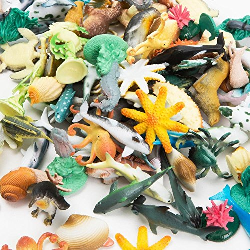 Under Sea Plastic Life Creatures