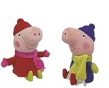 TY Beanie Babies Peluche Peppa Cerdo Peppa y George Invierno