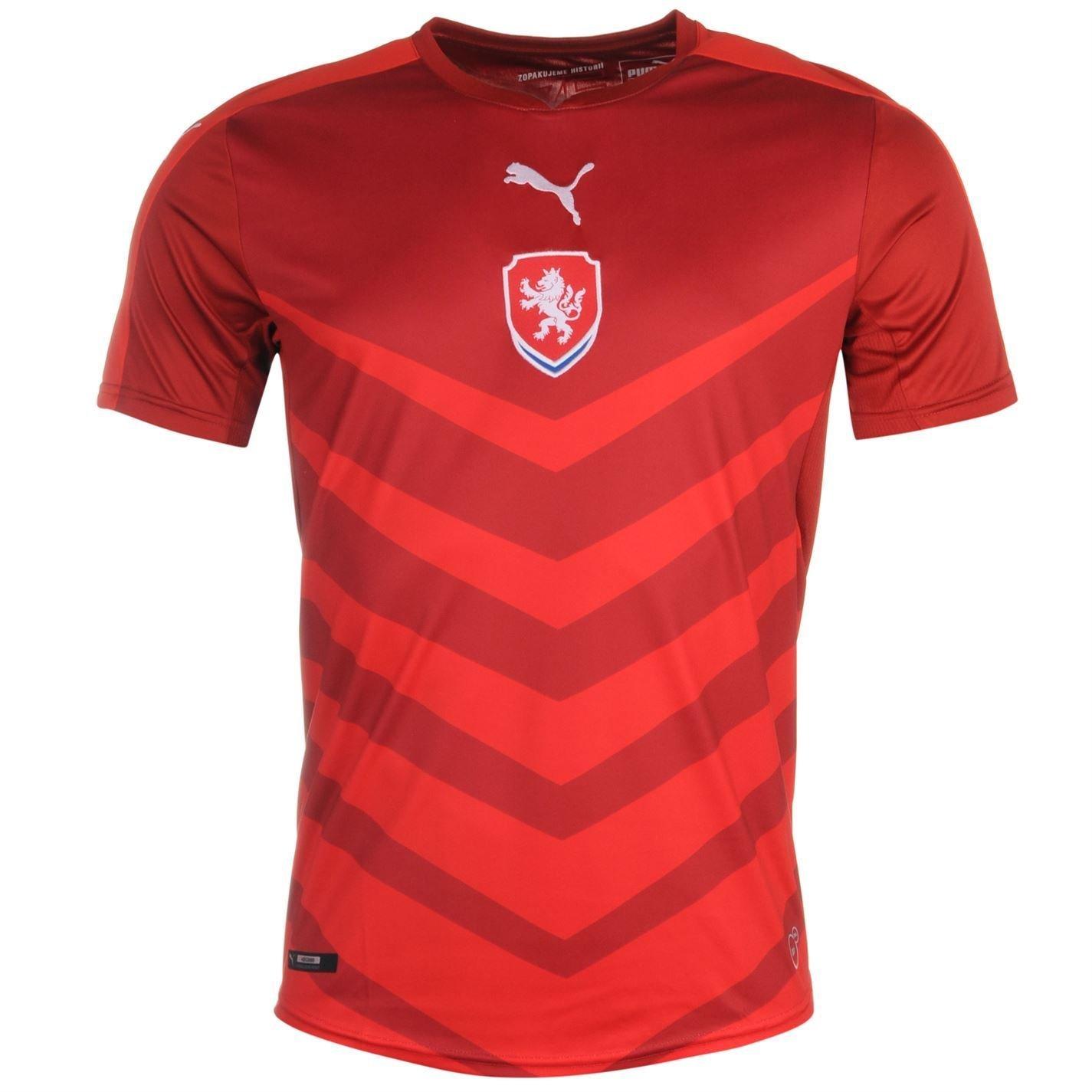 Puma Czech Republic Home Jersey 2016メンズレッド/ Chili Footballサッカーシャツトップ B01GKD5IXYXX-Large