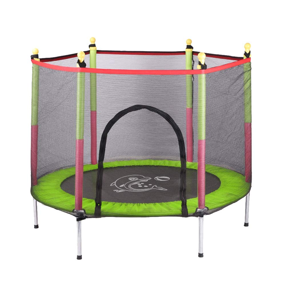 保護網が付いているトランポリン55インチの屋内赤ん坊のジャンプ B07MLX7XGP、家庭用おもちゃの跳ね上がりのベッドの子供の適性装置 (色 : 青) 青) B07MLX7XGP : Green Green, 唐桑町:55374f44 --- krianta.com