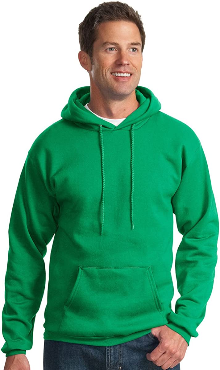 Port /& Company Mens Hooded Fleece Sweatshirt,Small,Kelly Green