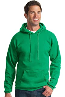 Safety Green Medium Port /& Company Mens Pullover Pocket Hooded Sweatshirt