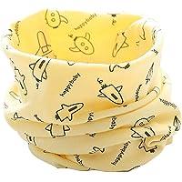 ZUMUii Butterme Bebé Niños Niñas O Ring Neck Warmer Cotton Collar Bufandas Pañuelos de Cuello(Amarillo-Aeronave)