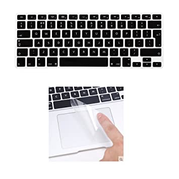 i-Buy Silicone Keyboard Cover Film for Macbook Air 13 Pro 13 Pro 15+ Touchpad Protector[EU Layout]- Black: Amazon.es: Electrónica