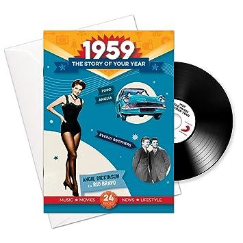 1959 cumpleaños o aniversario regalos - 1959 4-en-1 tarjeta ...
