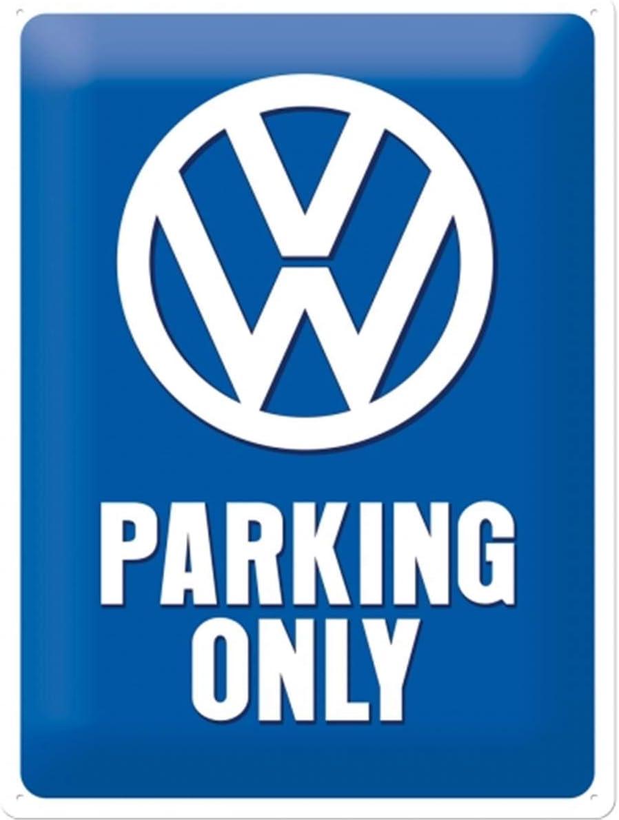 Nostalgic Art Retro Blechschild Volkswagen Vw Parking Only Auto Geschenk Idee Aus Metall Vintage Design Zur Dekoration 30 X 40 Cm Garten