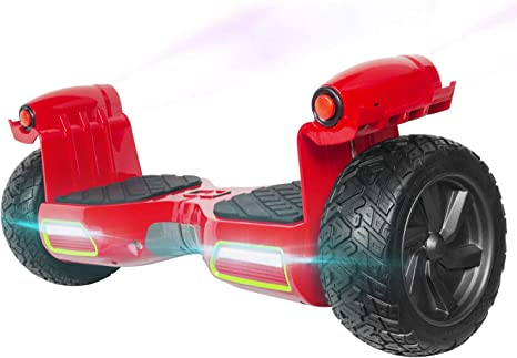 M MEGAWHEELS Hoverboard 8.5 Pulgadas, Patinete electrico con Bluetooth - Motor eléctrico 700w, Velocidad 10-15 Km/h.(Red): Amazon.es: Deportes y aire libre