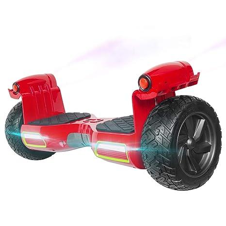 M MEGAWHEELS Hoverboard 8.5 Pulgadas, Patinete electrico con Bluetooth - Motor eléctrico 700w, Velocidad 10-15 Km/h.(Red)