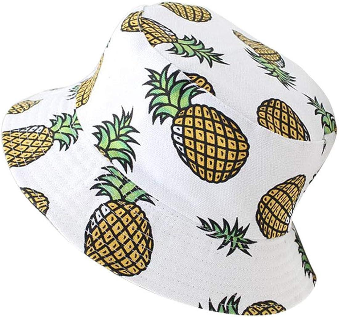 JMITHA Sombrero Unisex Pescador Sombrero De Sol Gorra Protecci/ón contra Sol UV Sombrero de Algod/ón Estampado Frutas Visera con Gorra
