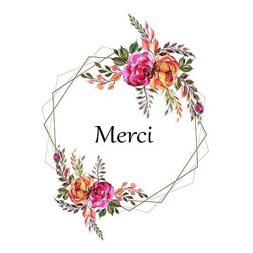 5 Cartes De Remerciement Thank You Card Carte Merci Carte Remerciement Mariage Anniversaire Bapteme Carte Merci En Francais Carte Et Enveloppe Amazon Fr Handmade