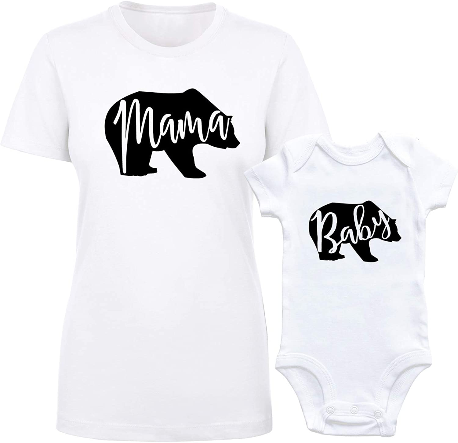 Mama Bear Babys Boys /& Girls Short Sleeve Romper Bodysuit Outfits and Tee