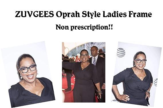 6693865403 Amazon.com  Fashion Oprah Style for Women Nerd Eyeglasses Square Big Frames  Large Clear Lens-can replace the prescription lens (Black)  Clothing