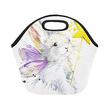 Neopreno aislado Bolsa de almuerzo Bunny Fairy Camiseta ...