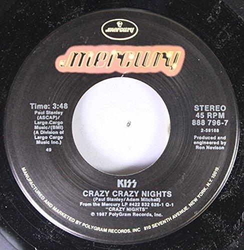 KISS 45 RPM CRAZY CRAZY NIGHTS / NO NO NO