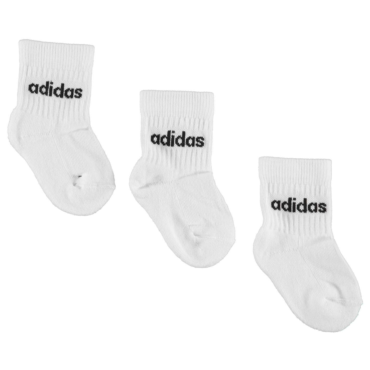 adidas Kids Crew Socks 3 Pack