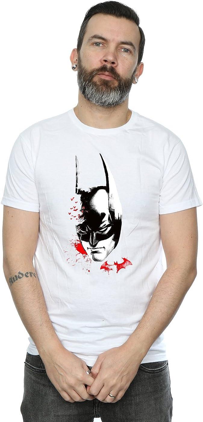 DC Comics Hombre Batman Arkham Knight Bats Face Camiseta: Amazon.es: Ropa y accesorios