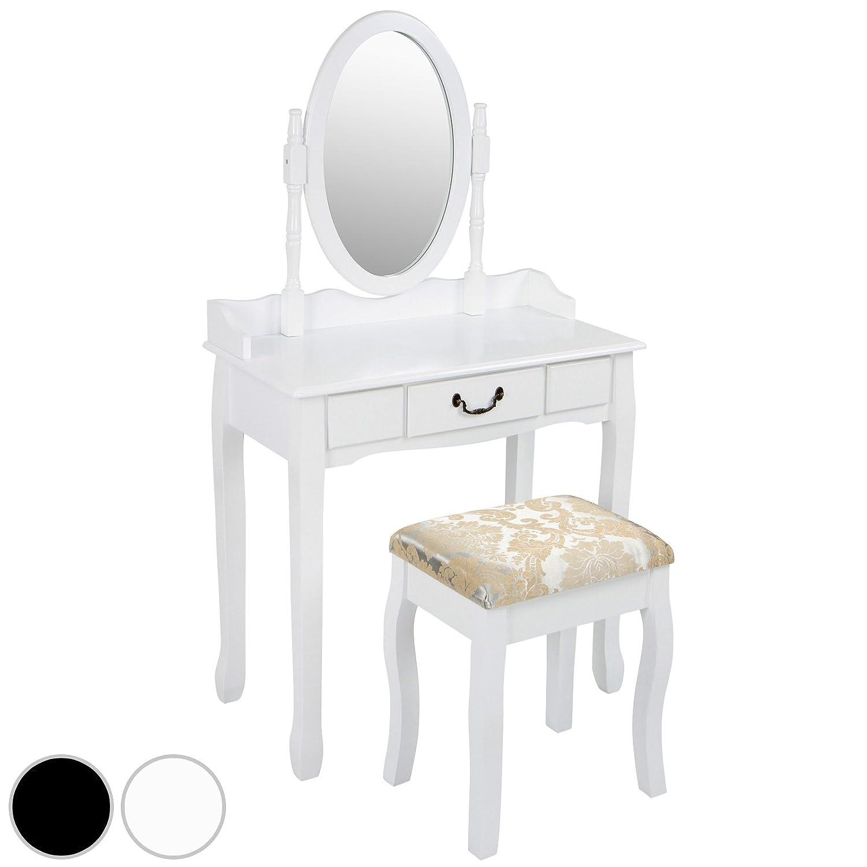 Miadomodo - Coiffeuse en Bois avec Tabouret Table de Maquillage avec Miroir Amovible (Couleur au Choix)