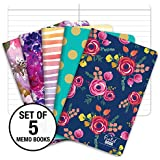 "Pocket Notebook/Pocket Journal - 3.5""x5.5"" - Assorted Patterns - Lined Memo Field Note Book"
